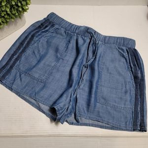 Current Air Chambray Side Stripe Shorts